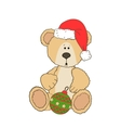 Christmas Teddy bear vector image vector image