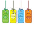 Colored sale and promo transportation tag vector image vector image