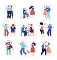 conflict relationship people violence unhappy vector image vector image