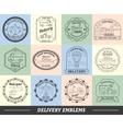 Delivery Emblems Set vector image
