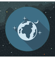 Digital planet earth icon with stars vector image vector image