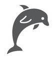 dolphin glyph icon animal and underwater vector image vector image