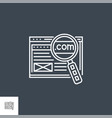 domain line icon vector image