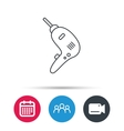 Drill tool icon Electric jack-hammer sign vector image vector image