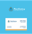 employee logo design with business card template vector image vector image