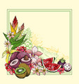 exotic summer background with fruit vector image vector image