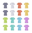 Female colored short sleeve t-shirts with the vector image vector image
