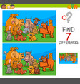 find differences game with dogs and cats vector image vector image