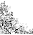 Floral abstract pattern in gray vector image