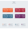 Glossy colorful plastic buttons vector image vector image