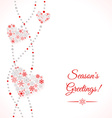 Greetings card with garland of hearts vector image vector image
