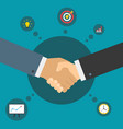 handshake of business partners successful deal vector image vector image