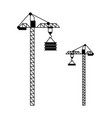 high machine for building crane with hook vector image