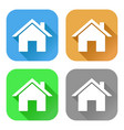 home icons set colored signs vector image