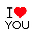 i love you popular symbol heart vector image