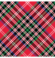 Kemp tartan fabric texture check diagonal pattern vector image vector image