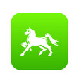 knight horse mascot icon green vector image
