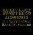 led display font dot light english alphabet vector image