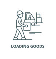 loading goods line icon linear concept vector image vector image