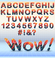 modern font with abstract elements vector image