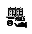 monthly payment black glyph icon