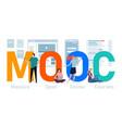 mooc massive open online course online learning vector image