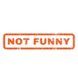 Not Funny Rubber Stamp vector image vector image