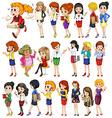 Office women set vector image vector image