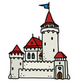 old stone castle vector image vector image