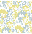 pale green and gray flowers seamless pattern