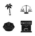 palma scales and other web icon in black style vector image vector image