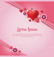 pink background with heart flower vector image