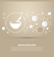 porridge icon on a brown background with elegant vector image