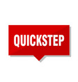 quickstep red tag vector image vector image