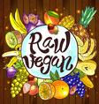 raw vegan vector image vector image