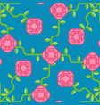 rose pattern seamless pink flower background vector image vector image