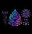 sacred geometry and boo symbol set ayurveda sign vector image vector image