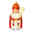 saint nicholas - happy cute character vector image