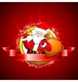 Santa with Jingle Bell vector image vector image