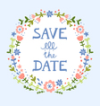 save date floral wreath vector image vector image