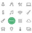 Set of Travel Holiday Elements can be used as Logo vector image vector image