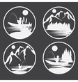set of vintage labels with fishing theme vector image vector image