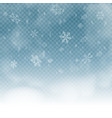 snowflakes on blue transparent background vector image vector image