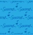 sound seamless pattern vector image vector image
