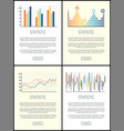 statistics flowcharts and infographics with text vector image vector image