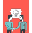 Successful business deal vector image