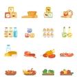 Supermarket Food Set vector image