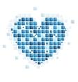 Tech abstract heart shape vector image