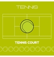 Tennis ball and court Flat sports icon vector image vector image