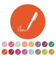 The signature icon Pen and undersign underwrite vector image vector image